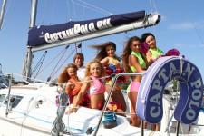 Группа поддерджки на яхте Captain Polo